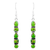 Green Turquoise Earrings Sterling Silver E1243-C76