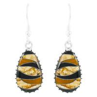 Tiger Eye Earrings Sterling Silver E1224-C33