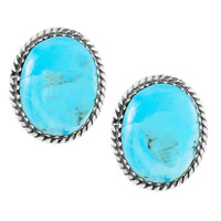 Turquoise Earrings Sterling Silver E1301-C75