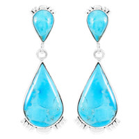 Turquoise Earrings Sterling Silver E1303-C75
