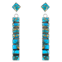 Turquoise Earrings Sterling Silver E1305-C84