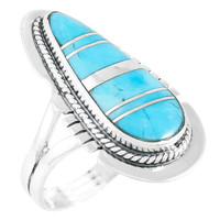 Turquoise Ring Sterling Silver R2404-C75