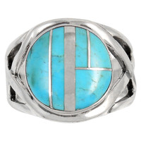 Turquoise Ring Sterling Silver R2444-C05