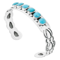 Turquoise Bracelet Sterling Silver B5574-C75