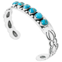 Matrix Turquoise Bracelet Sterling Silver B5574-C84