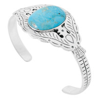 Turquoise Bracelet Sterling Silver B5575-C75