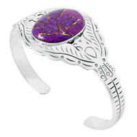 Purple Turquoise Bracelet Sterling Silver B5575-C77
