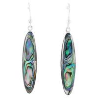 Sterling Silver Drop Earrings Abalone Shell E1309-C10