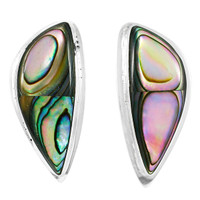 Sterling Silver Earrings Abalone Shell E1314-C10