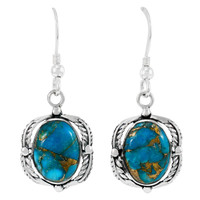 Matrix Turquoise Earrings Sterling Silver E1311-C84