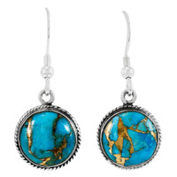 Matrix Turquoise Earrings Sterling Silver E1313-C84