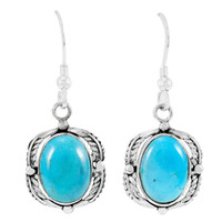 Turquoise Earrings Sterling Silver E1311-C75