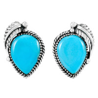 Turquoise Earrings Sterling Silver E1312-C75