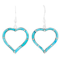 Turquoise Heart Earrings Sterling Silver E1315-C05