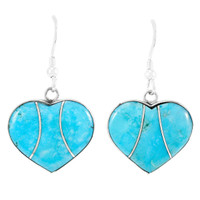 Turquoise Earrings Sterling Silver E1316-C05