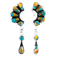 Spiny Turquoise Earrings Sterling Silver E1037-C89