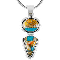 Sterling Silver Pendant Spiny Turquoise P3275-C89