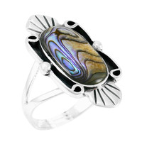 Abalone Shell Ring Sterling Silver R2452-C10