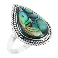 Abalone Shell Ring Sterling Silver R2450-C10