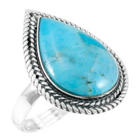 Turquoise Ring Sterling Silver R2450-C75