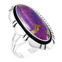 Purple Turquoise Ring Sterling Silver R2380-C77