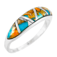 Spiny Turquoise Ring Sterling Silver R2052-C89