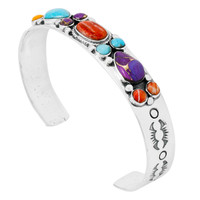 Multi Gemstone Bracelet Sterling Silver B5552-C71