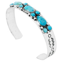 Turquoise Bracelet Sterling Silver B5552-C75