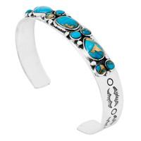 Matrix Turquoise Bracelet Sterling Silver B5552-C84