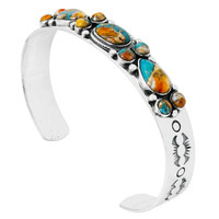 Spiny Turquoise Bracelet Sterling Silver B5552-C89