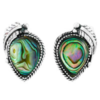 Sterling Silver Earrings Abalone Shell E1312-C10