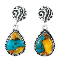 Spiny Turquoise Earrings Sterling Silver E1317-C89