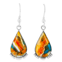 Spiny Turquoise Earrings Sterling Silver E1318-C89