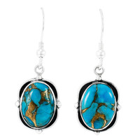 Matrix Turquoise Earrings Sterling Silver E1319-C84