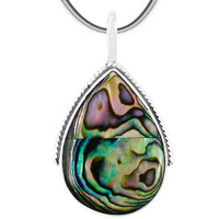 Abalone Pendant Jewelry Sterling Silver P3075-C10