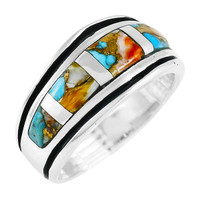 Spiny Turquoise Ring Jewelry Sterling Silver R2024-C89