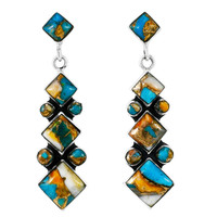 Spiny Turquoise Earrings Sterling Silver E1069-C89