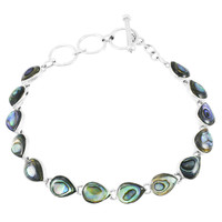Abalone Link Bracelet Sterling Silver B5565-C10