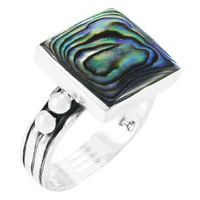 Abalone Ring Sterling Silver R2425-C10