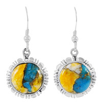 Sterling Silver Earrings Spiny Turquoise E1321-C89