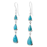 Sterling Silver Earrings Turquoise E1320-C75