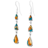 Sterling Silver Earrings Spiny Turquoise E1320-C89