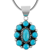 Turquoise Pendant Sterling Silver P3276-C75