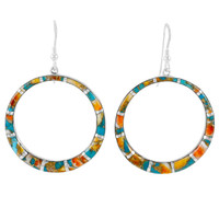 Spiny Turquoise Earrings Sterling Silver E1187-C89