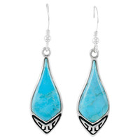 Turquoise Earrings Sterling Silver E1231-C75