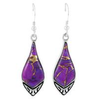 Purple Turquoise Earrings Sterling Silver E1231-C77