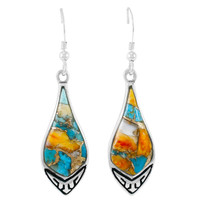 Spiny Turquoise Earrings Sterling Silver E1231-C89