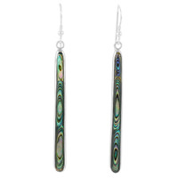 Abalone Shell Earrings Sterling Silver E1250W-C10