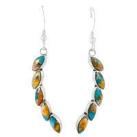 Spiny Turquoise Earrings Sterling Silver E1324-C89