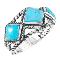 Turquoise Ring Sterling Silver R2453-C75